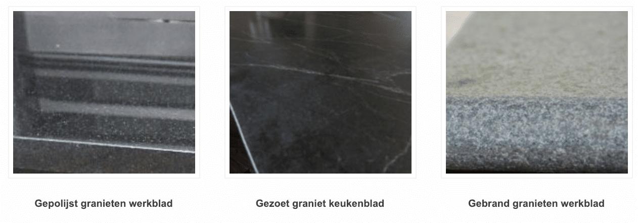 Werkblad graniet afwerking